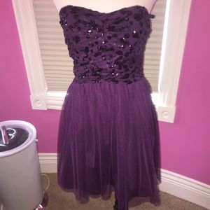 Delia's purple homecoming dress